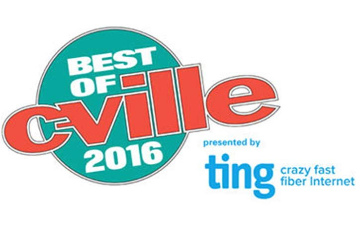Thank you Charlottesville for nominating us Best of C-VILLE!